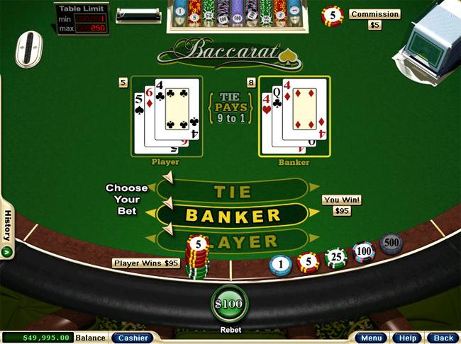 Play Baccarat at Win Palace Casino